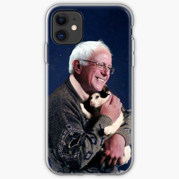Bernie with Cat iPhone Soft Case