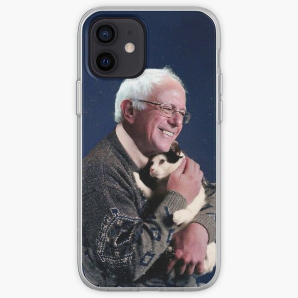 Bernie with Cat iPhone Soft Case