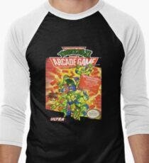 TMNT II: The Arcade Game Men's Baseball ¾ T-Shirt