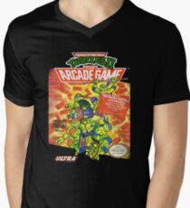TMNT II: The Arcade Game Men's V-Neck T-Shirt