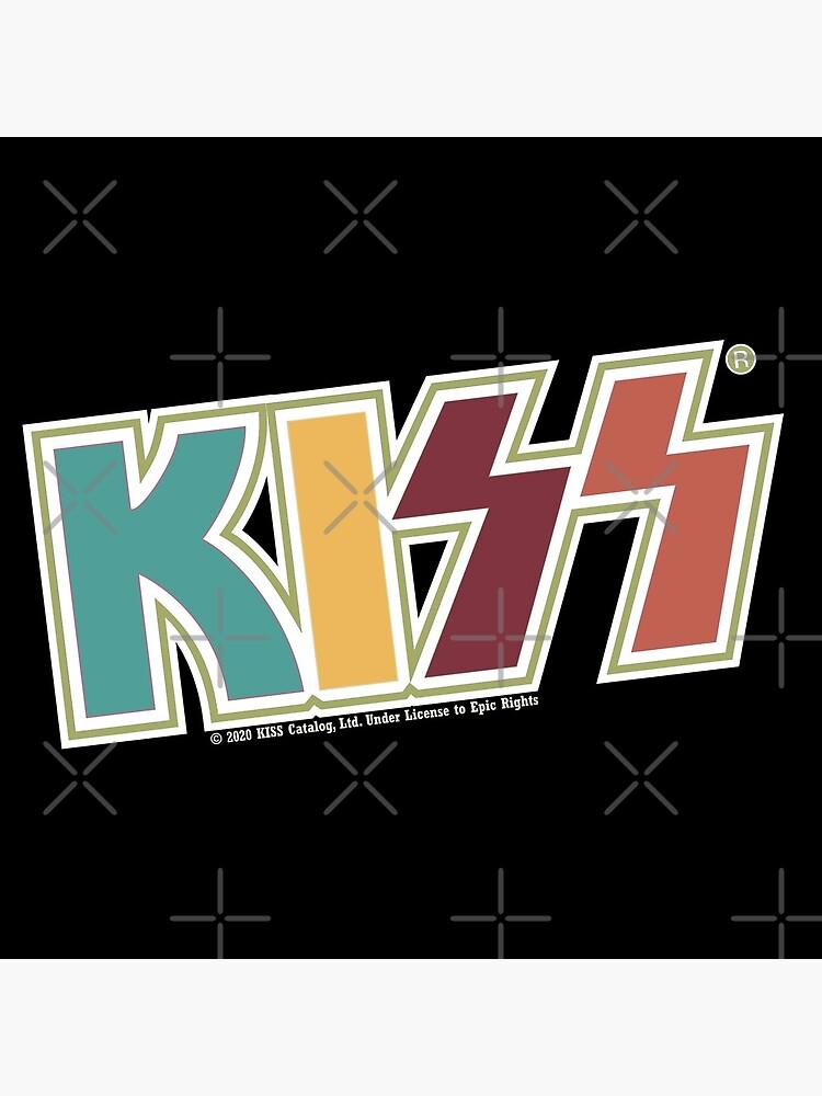 Kiss Band Retro Colors Logo by vibrantyy