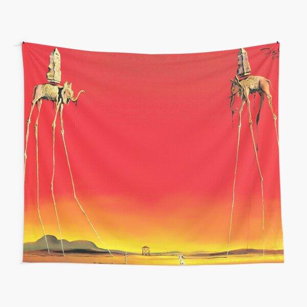 Salvador Dali The Elephants (Les Éléphants) 1948 Artwork for Wall Art, Prints, Posters, Tshirts, Men, Women, Kids Tapestry
