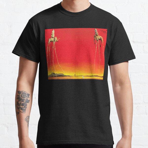 Salvador Dali les éléphants (Les Éléphants) 1948 oeuvre d'art mural, estampes, affiches, t-shirts, hommes, femmes, enfants T-shirt classique