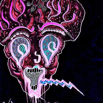 demonic clown pillow by vocalMOD