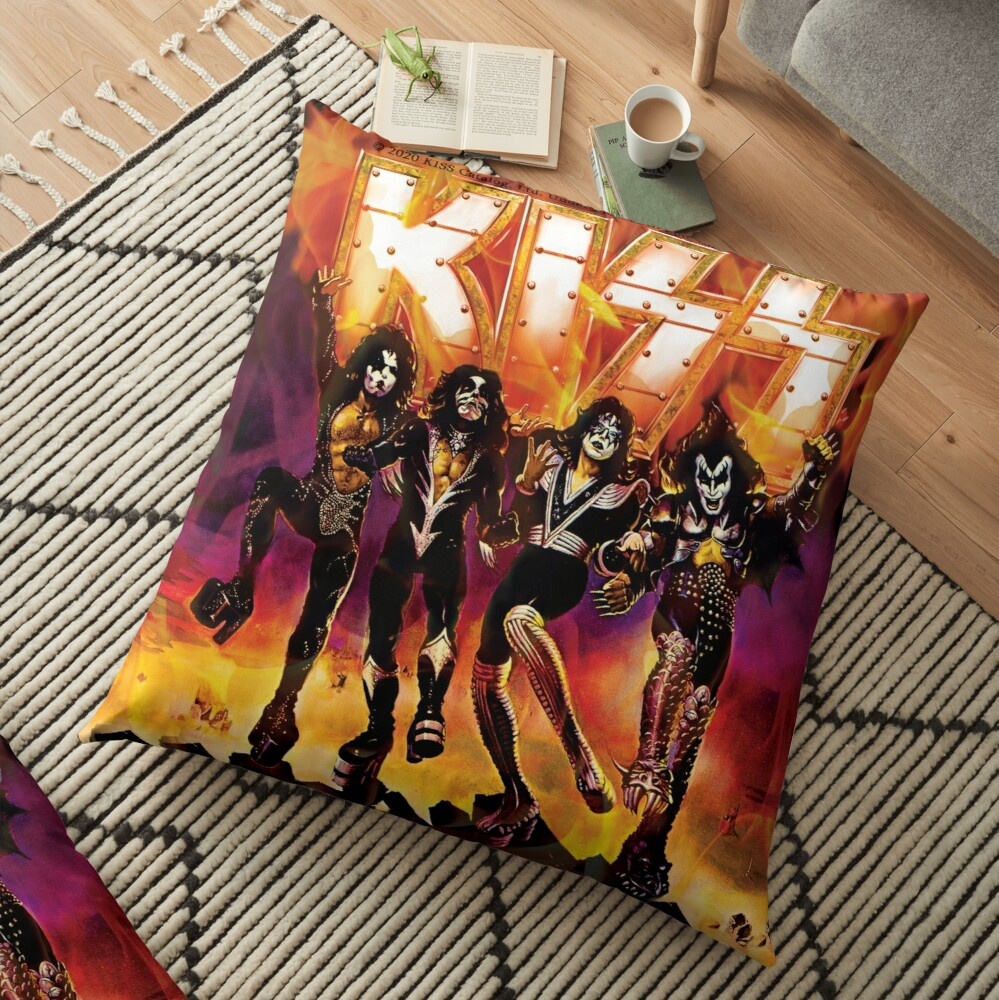 kiss the band Floor Pillow