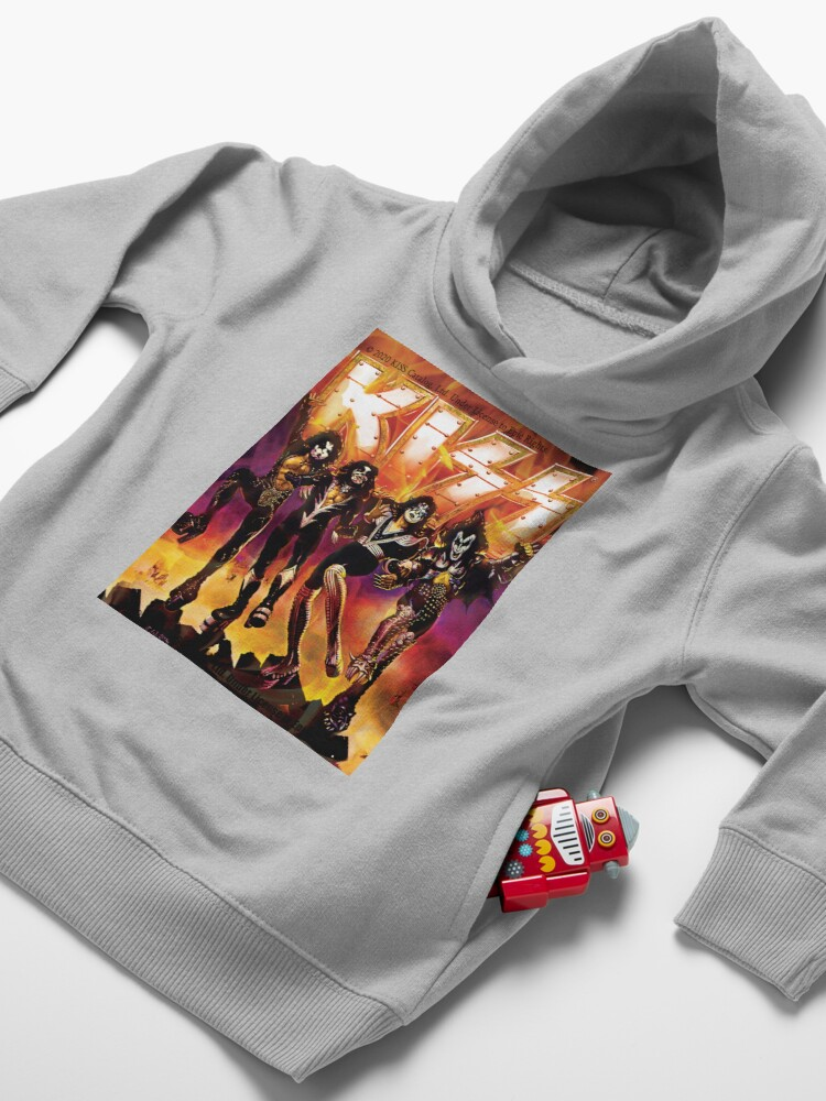 Alternate view of kiss the band Toddler Pullover Hoodie
