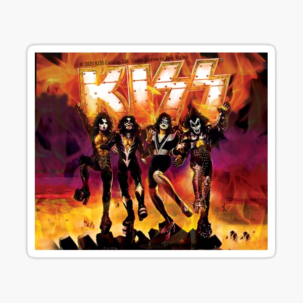 kiss the band- Rock band Hard Rock Kiss army Destroyer Sticker