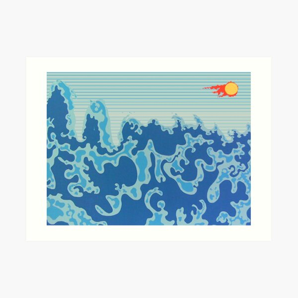 Illios & Thalassa (Sun & Sea) -by the Making Love Art Project Art Print