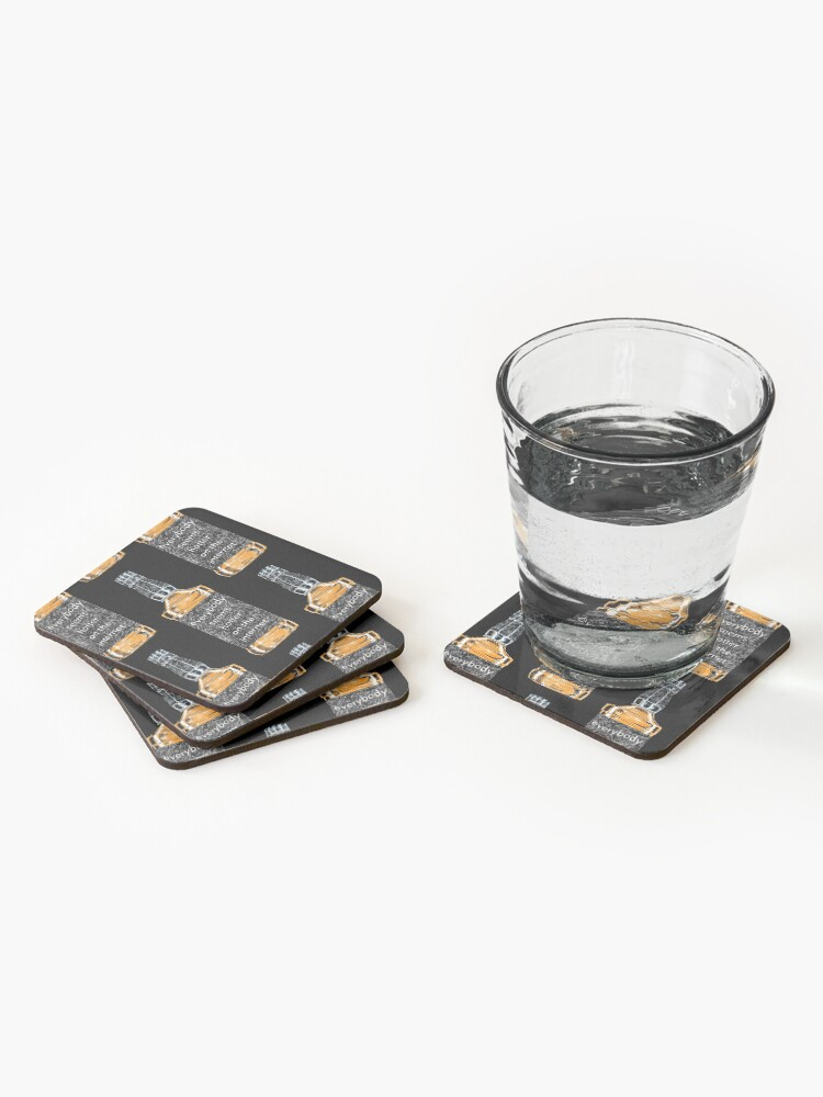 Alternate view of Everybody Seems Hotter on the Internet (Black) Coasters (Set of 4)