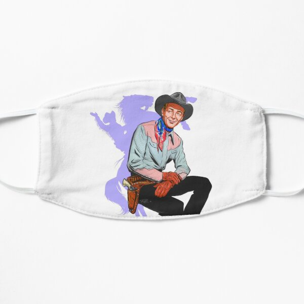 Roy Rogers - An illustration by Paul Cemmick Flat Mask
