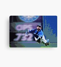 Kevin Pillar Takes a Dive Canvas Print