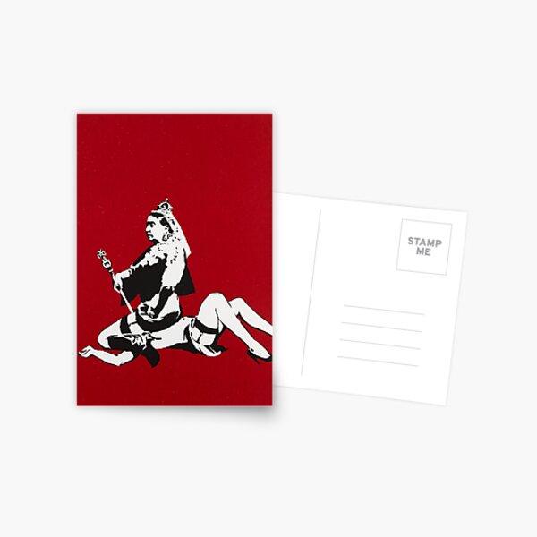 Banksy Queen Victoria Postcard