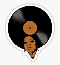 Afrovinyl (Brown) Sticker