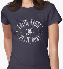 Faith Trust and Pixie Dust // Peter Pan Tshirt Women's Fitted T-Shirt