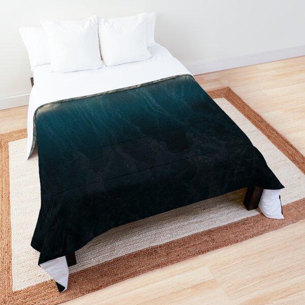 Dark Photography of sea wave Comforter