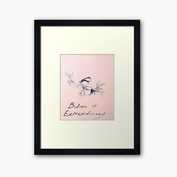 emin believe in extraordinary Framed Art Print