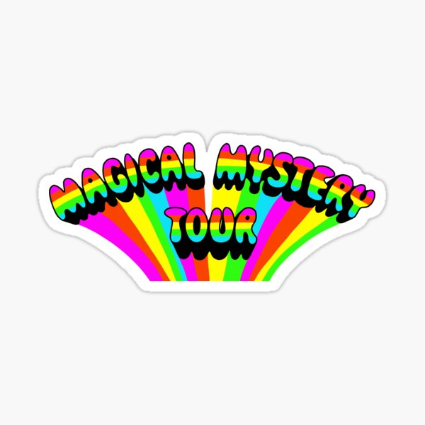 magical mystery tour logo Sticker