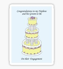 Congratulations to Nephew and Groom to Be on Engagement. Sticker
