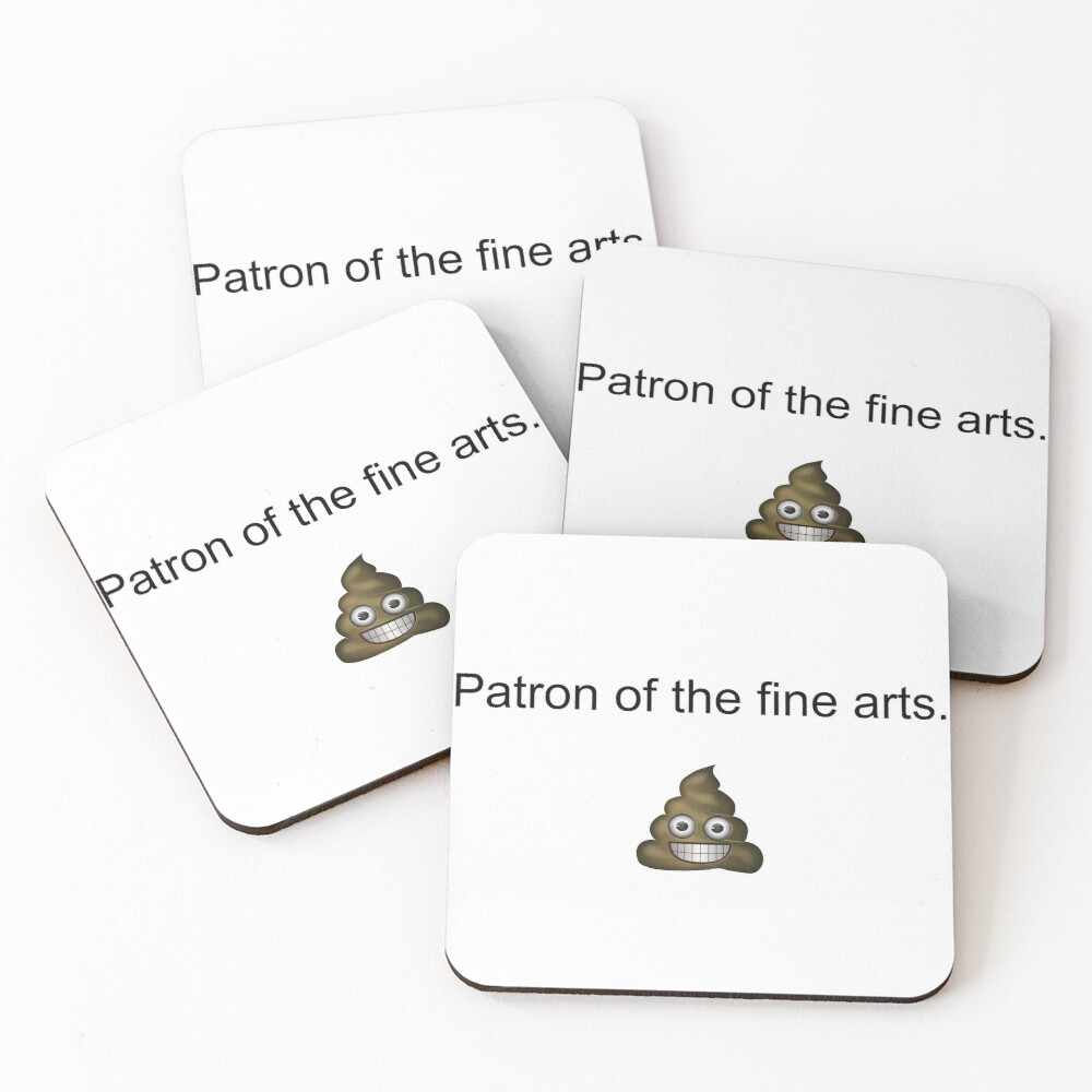Patron of The Fine Poops Coasters (Set of 4)