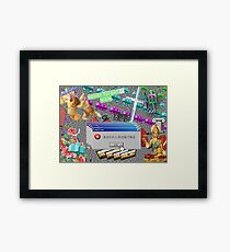 Vaporwave Seapunk much cool Framed Print