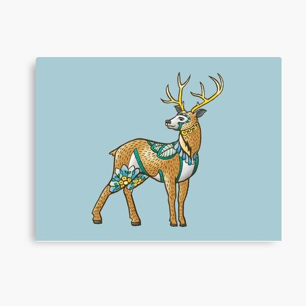 Mandala Deer Canvas Print
