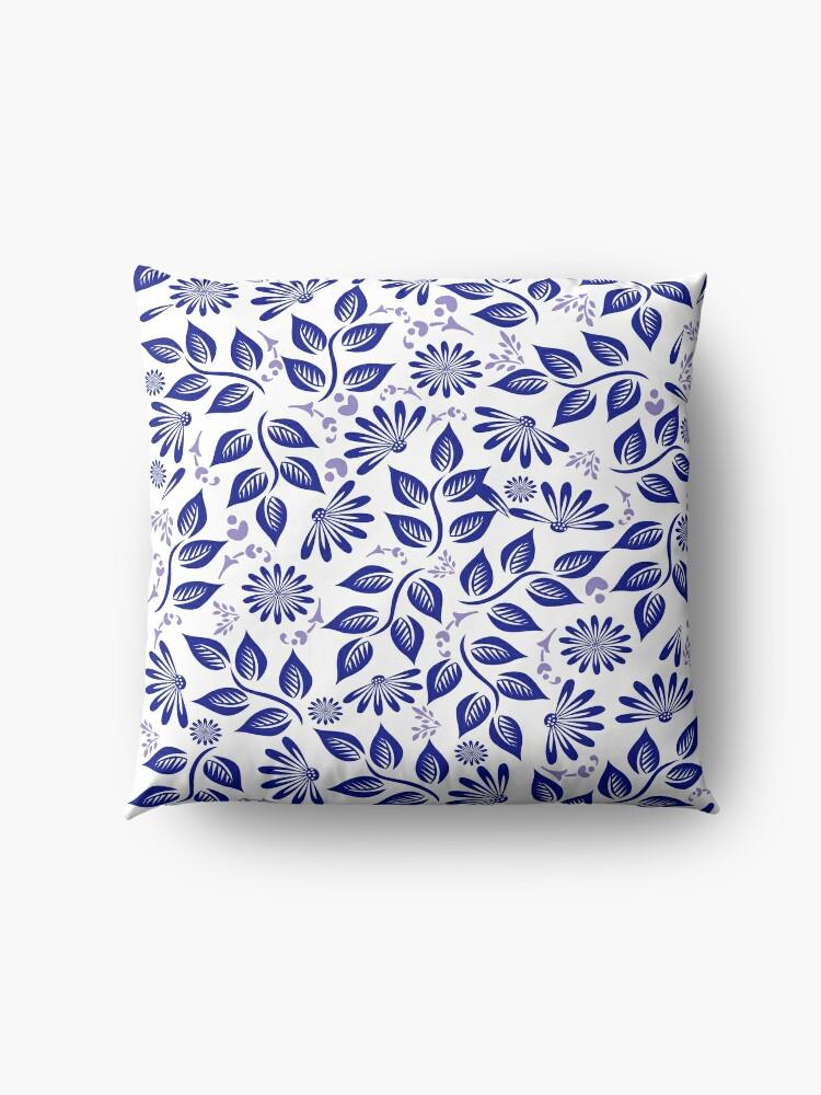 Alternate view of Brilliant in Blue Floor Pillow