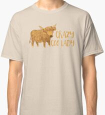 Crazy Coo (HIGHLAND COW) Lady Classic T-Shirt
