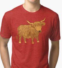 Highland COO (Cow) Tri-blend T-Shirt