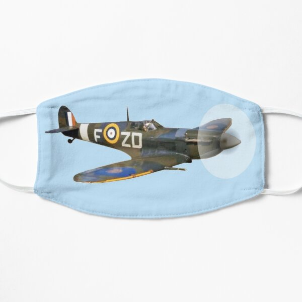 SPITFIRE. British, Airplane, Fighter, WWII, 1942, Spitfire VB, 222 Squadron, cut out. Mask