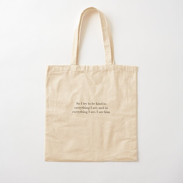 A little life quote by Hanya Yanagihara  Cotton Tote Bag