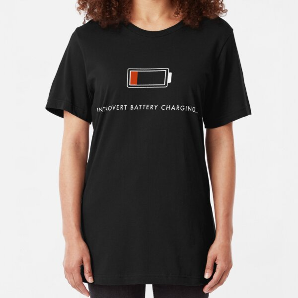 Introvert Battery Charging Slim Fit T-Shirt