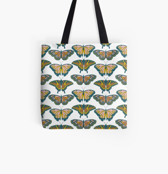 Butterflies All Over Print Tote Bag