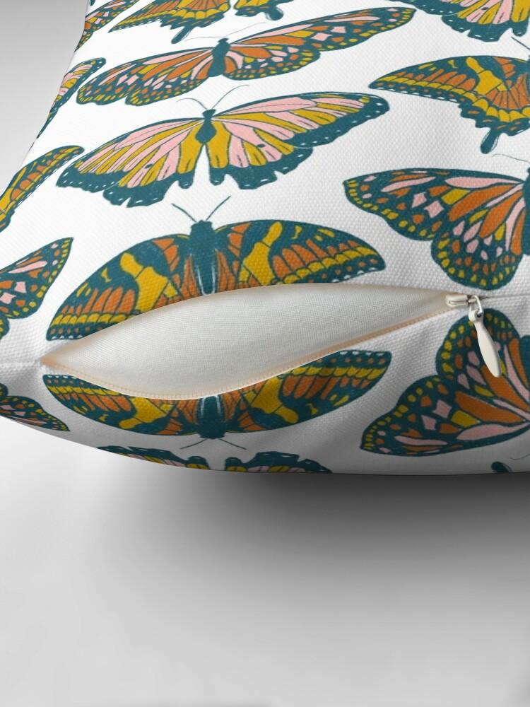 Alternate view of Butterflies Throw Pillow