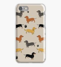 Weenie Weenies (Dachshund Sausage Dog) iPhone Case/Skin