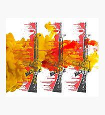 Proud Guns - Yellow Gamer Photographic Print