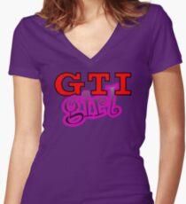 GTI Girl Women's Fitted V-Neck T-Shirt