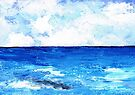 Seawater and clouds by Elizabeth Kendall
