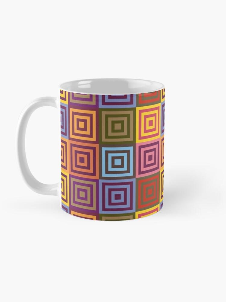Alternate view of Playfull squares Mug