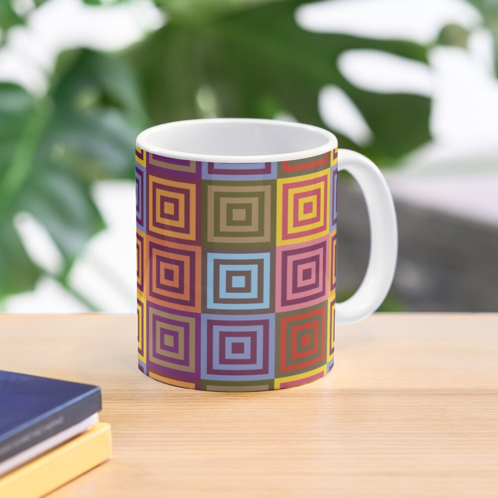 Playfull squares Mug