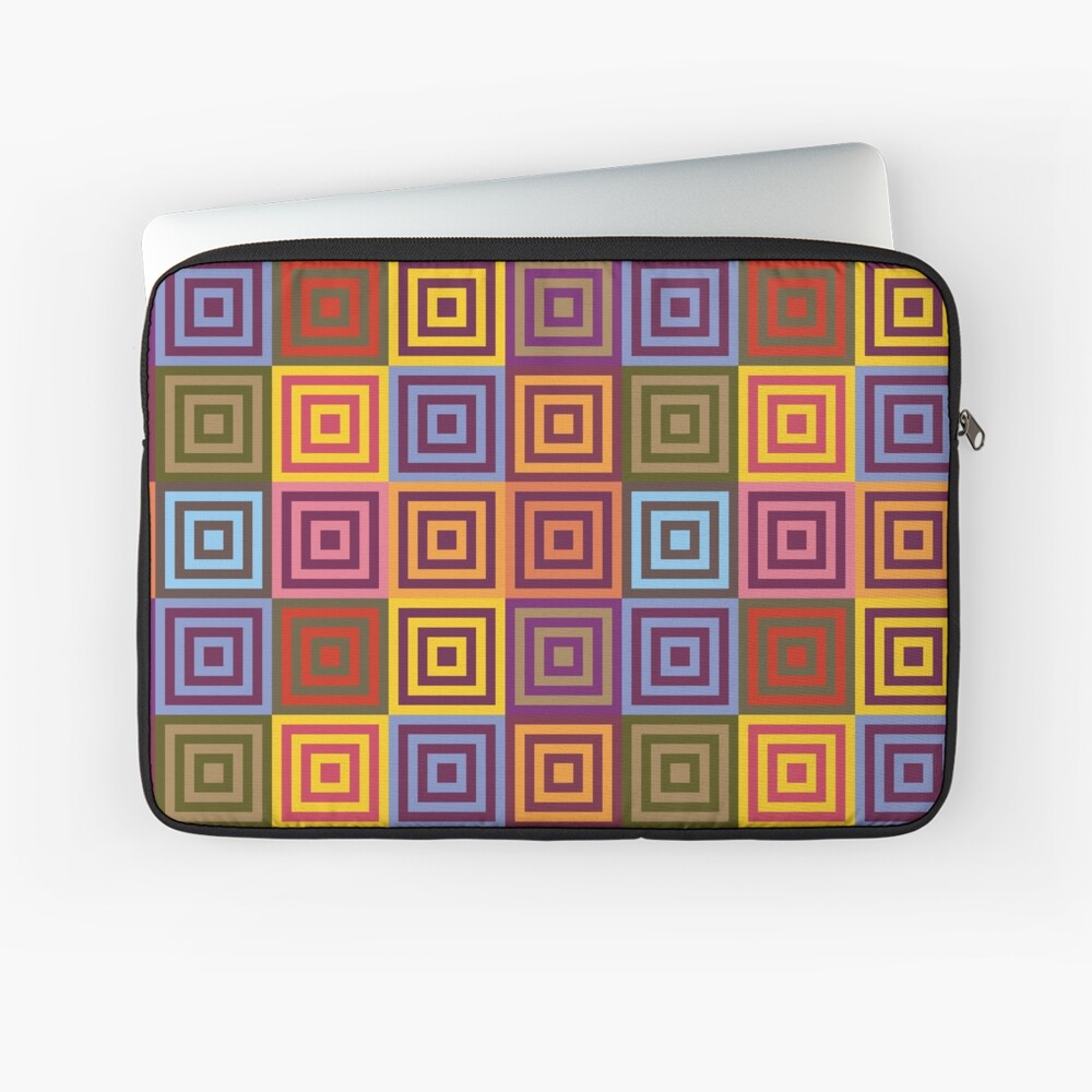 Playfull squares Laptop Sleeve