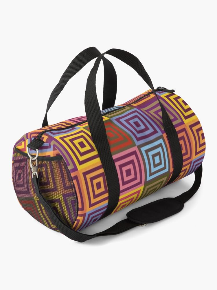 Alternate view of Playfull squares Duffle Bag