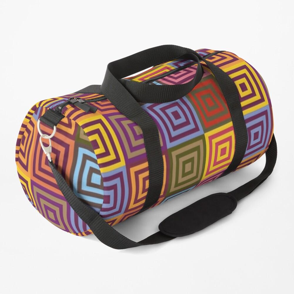 Playfull squares Duffle Bag