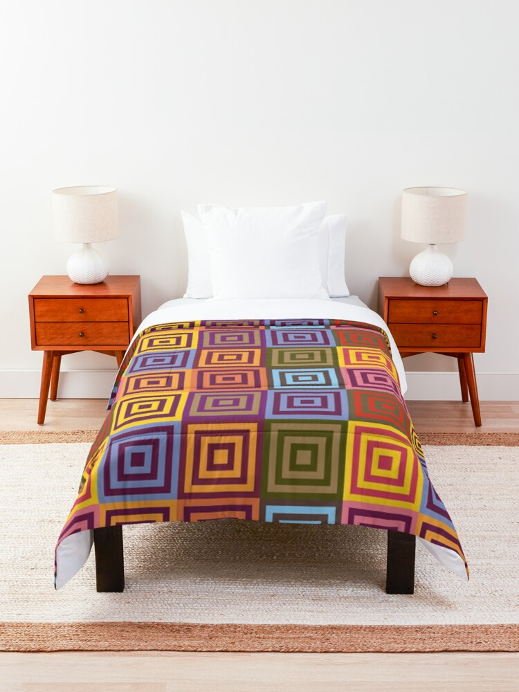 Alternate view of Playfull squares Comforter