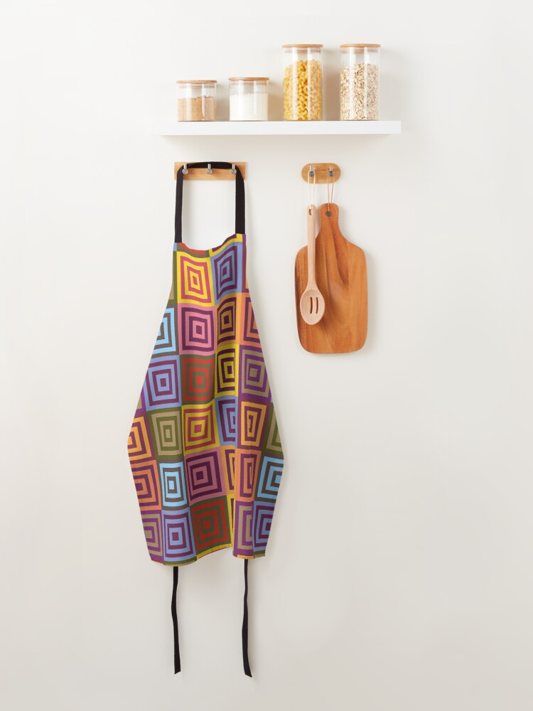 Alternate view of Playfull squares Apron