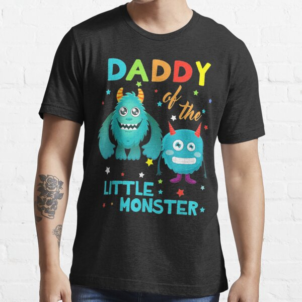 Daddy Of The Little Monster Birthday Family Monster Essential T-Shirt