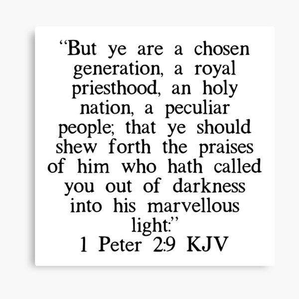 1 Pedro 2: 9 RV Lienzo