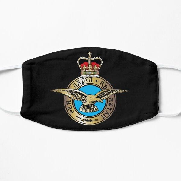 Royal Air Force Badge. On Black. Flat Mask