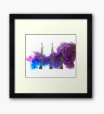 Proud Guns - Purple Gamer Framed Print