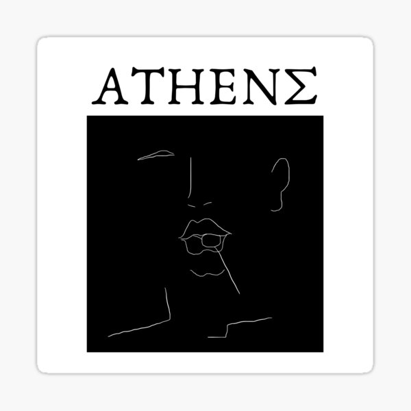 Minimal Line Art City of Athens Sticker