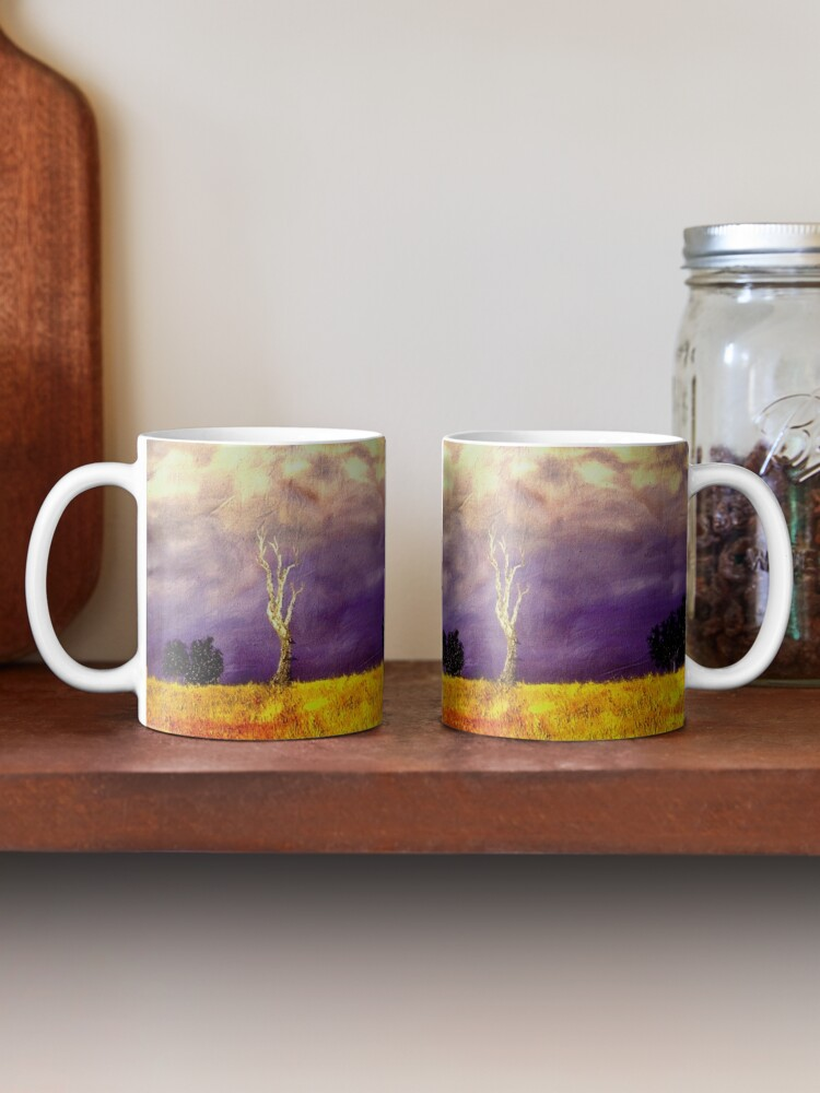 Alternate view of Gum Tree After The Storm - Oil on canvas original artwork Mug